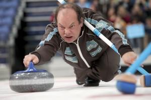 Le CTO d'Eelway pendant un match de Curling