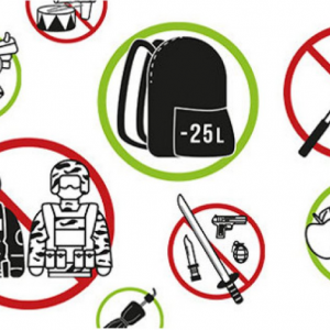 image pictograme bagage objets interdits paris japan expo 2017